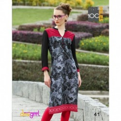 Printed Cotton Long Kurthi