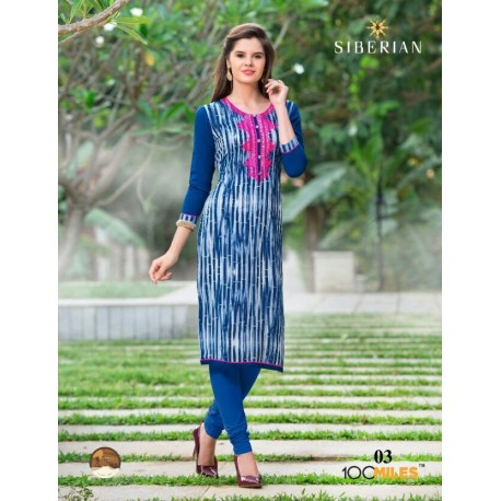 Colourful Long Cotton Kurthi