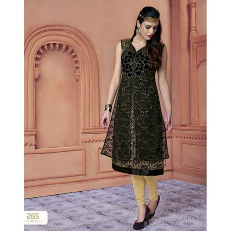 Heritage Mixed Fabric Kurthi